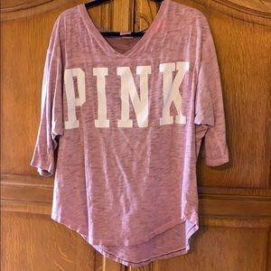 PINK by Victoria's Secret. 3/4 length t shirt